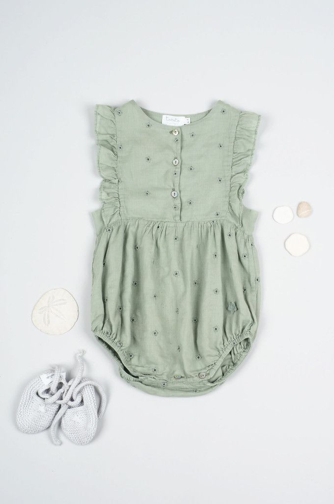 Sea foam romper