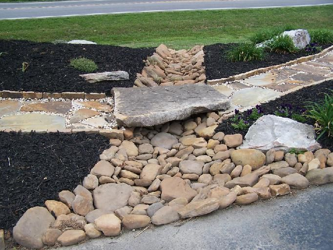 37 best images about ideas for the house on pinterest for How to build a river rock patio