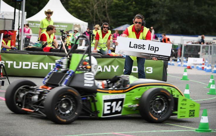 Well.. One more to go.. #formulastudent #FSG13 #lastlap Courtesy : FSG Media.