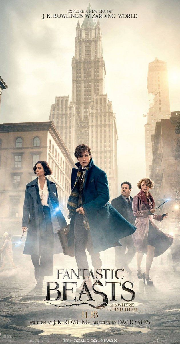Directed by David Yates.  With Eddie Redmayne, Ezra Miller, Zoë Kravitz, Colin Farrell. The adventures of writer Newt Scamander in New York's secret community of witches and wizards seventy years before Harry Potter reads his book in school.