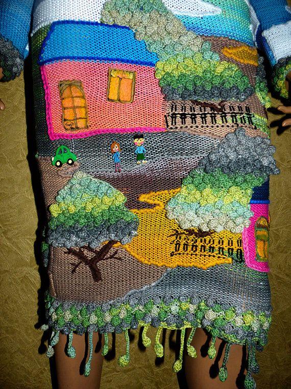 New handmade masterpiece Summer knit dress
