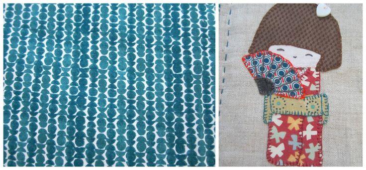 mantelito patchwork con estilo japonés