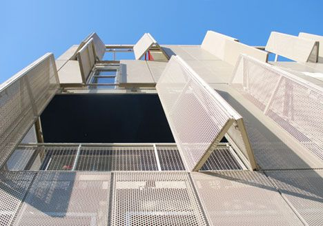 Perforated metal shutters, Cherokee Lofts by Pugh + Scarpa ARchitects  www.SkylivingOrlandoProperties.com