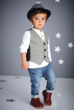 Acheter Ensemble chemise et gilet gris (3 mois - 6 ans) disponible en ligne dès aujourd'hui sur Next : France