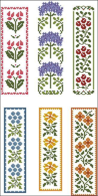 Floral Bookmarks Marcadores de pág. Florales