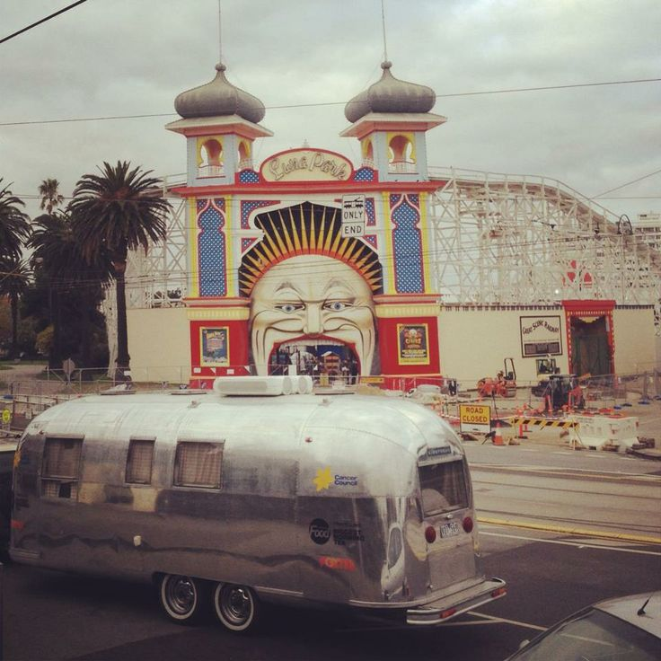 Airstream Dreams outside Luna Park, Melbourne