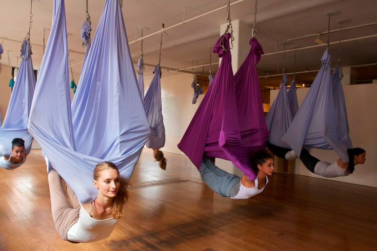 Studio Anya in NYC uses these amazing hammocks. I love the concept!