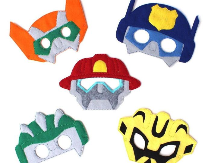 Rescue bots masks, pretend play and party favour masks, transformers, transformer birthday, rescue bot birthday, rescue bot party, favour