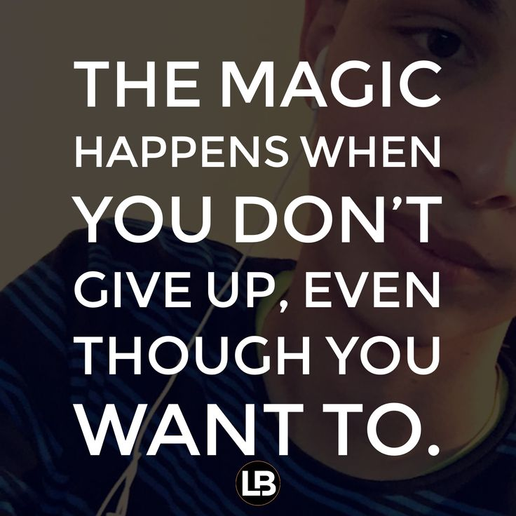 Grit Motivational Quotes: The Magic Happens In The Determination, Consistency And