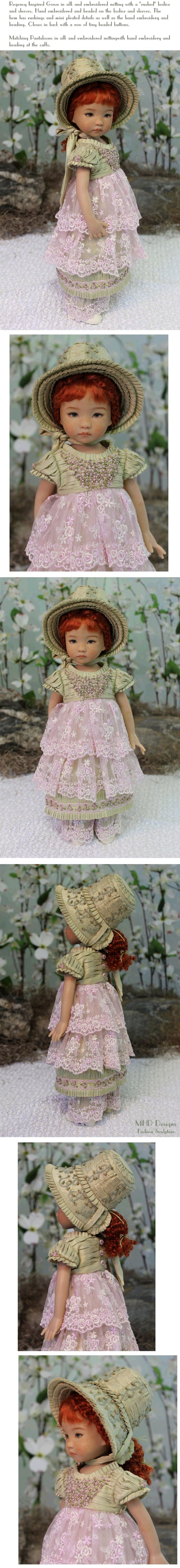 "MHD Designs ""Printemps Charmant"" OOAK for 14"" Dianna Effner's Little Darlings, SOLD via eBay 2/28/14 $1,500.00"