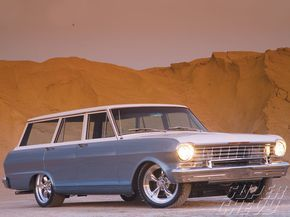 Check out this 1964 Chevy II Nova 400 Wagon with a LT1 engine, a 4L60E transmission, Monroe shocks and 17 inch American Racing wheels - Super Chevy Magazine