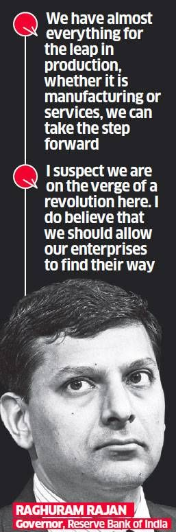 RBI Governor Raghuram Rajan hails government, says India on cusp of a revolution