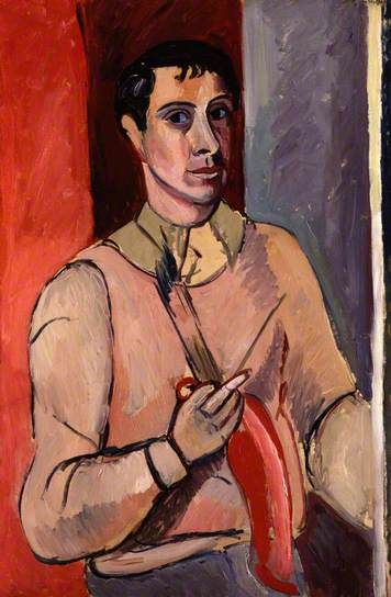 Self-portrait , 1920's by Edward Wolfe (1897-1982). Wolfe was born in South Africa but lived in England from 1916.