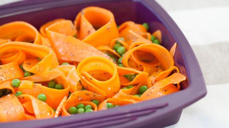 Steamer Carrot Ribbons & Peas