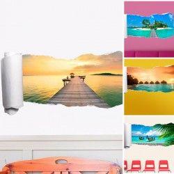 Carta da parati adesiva 3D spiaggia