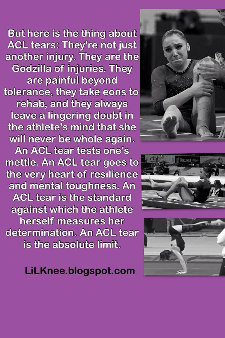 The truth about my ACL rupture in 2010