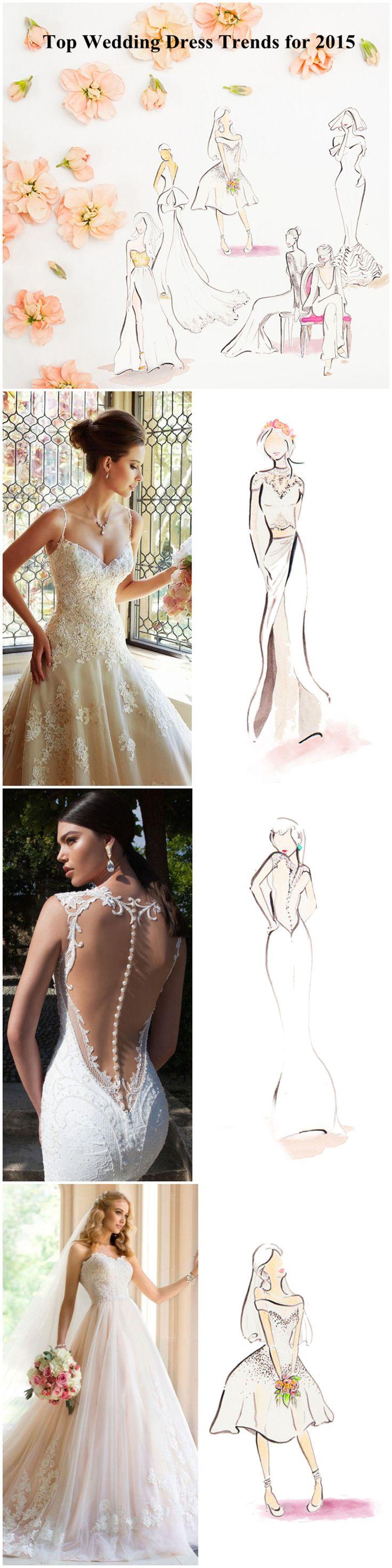 Best Wedding Dress Design in last 2015 !