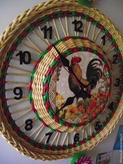 Часы для дома ручной работы. Ярмарка Мастеров - ручная работа. Купить Часы с плетеной основой. Handmade. Часы настенные, все для дома