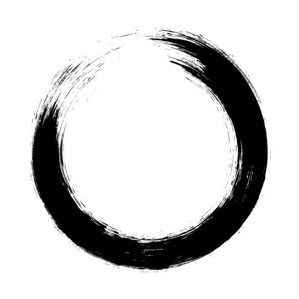 Enso Circular Brush Stroke Japanese Zen Circle Calligraphy N 9