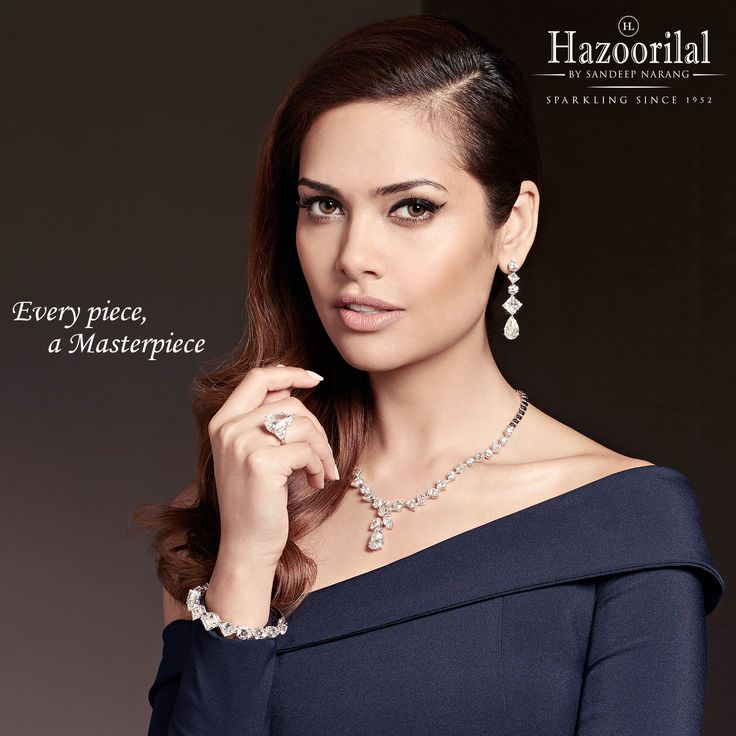 In a beautiful ode to design, style and craft , the bespoke masterpiece from the House of #HazoorilalBySandeepNarang  #CampaignHazoorilal @egupta #SparklingSeptember #FancyCuts #Solitaires #CertifiedDiamonds #GIA #HRD #HLbySN #HighJewellery #ItcMaurya #DlfEmporio #HazoorilalJewellersGK #Hazoorilal
