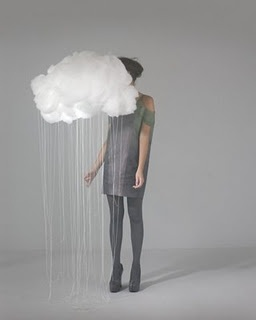 Rainstorm, but with cloud and dangling rain above your head like a hallow instead of in front of your face so you can't see.