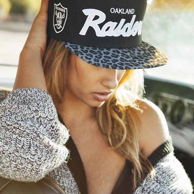 I hella want this hat !!! #ShareIG The Fall Look @nikkiblades in our customized Oakland Raiders cheetah print snapback. Email us at anthemsdesigns@gmail.com for orders. Shot by @john.agcaoili styled by @hellaholly and @thenameschristel