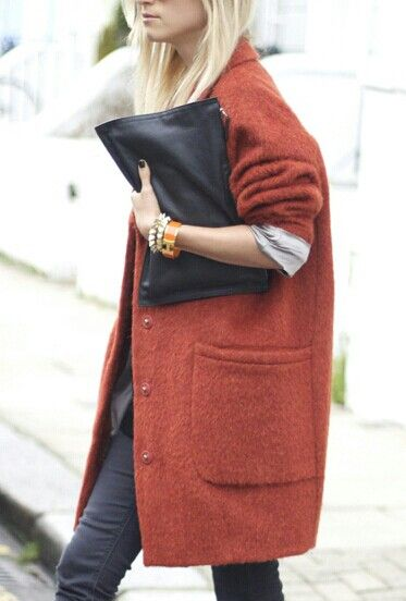 coat and clutch