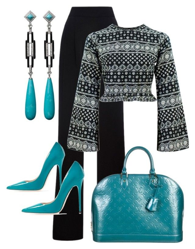 """""""Untitled #13"""" by lchrumka on Polyvore featuring Misha Nonoo, Jimmy Choo, Louis Vuitton, Hamilton, women's clothing, women, female, woman, misses and juniors"""