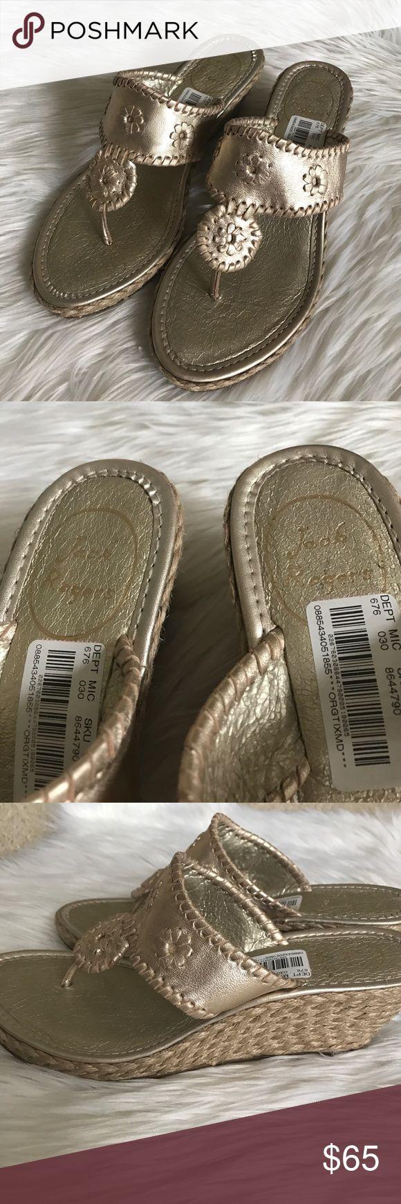 {Jack Rogers} Marbella Mid Wedge {Jack Rogers} Marbella Mid Wedge in Platinum. Size: 7.5. New, never worn. Jack Rogers Shoes Wedges
