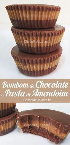 Bombom Gelado de Chocolate e Pasta de Amendoim