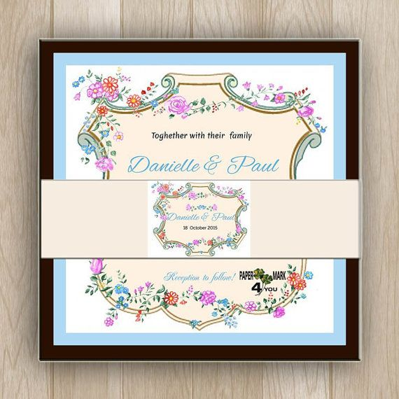 Whimsical pretty vintage floral rustic wedding by PaperMark4You