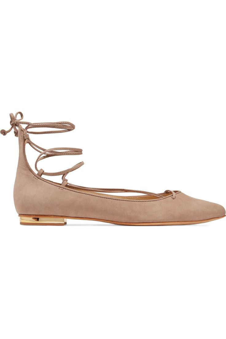 Shop on-sale Schutz Tori lace-up suede point-toe flats. Browse other discount designer Flat Shoes & more on The Most Fashionable Fashion Outlet, THE OUTNET.COM