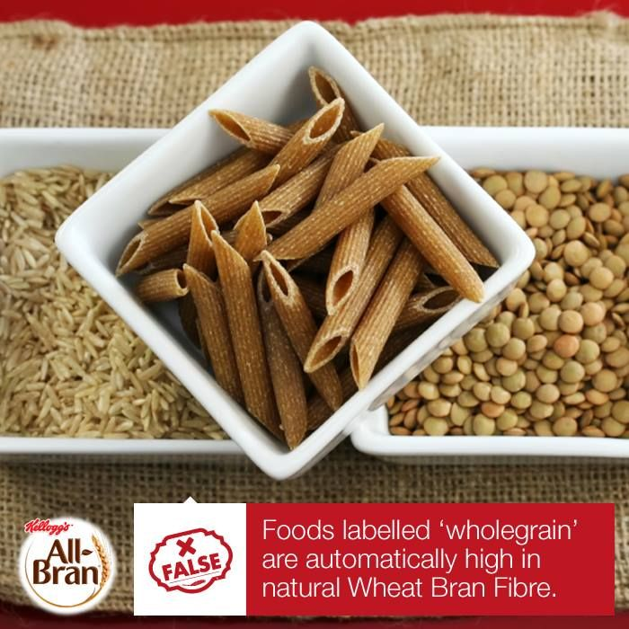 Different wholegrain foods contain different amounts and kinds of fibre. For example a wholegrain corn, rice or oat kernel may contain fibre but it won't contain the #NaturalWheatBranFibre that comes from a wheat kernel. Natural Wheat Bran Fibre, like that found in Kellogg's All-Bran, is the best kind of cereal fibre for promoting regularity.