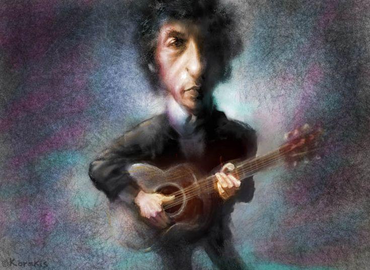 Bob Dylan caricature by alexkorakis.deviantart.com on @DeviantArt