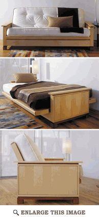 Futon Bed Woodworking Plan, Indoor Home Bedroom Furniture Project Plan   WOOD Store