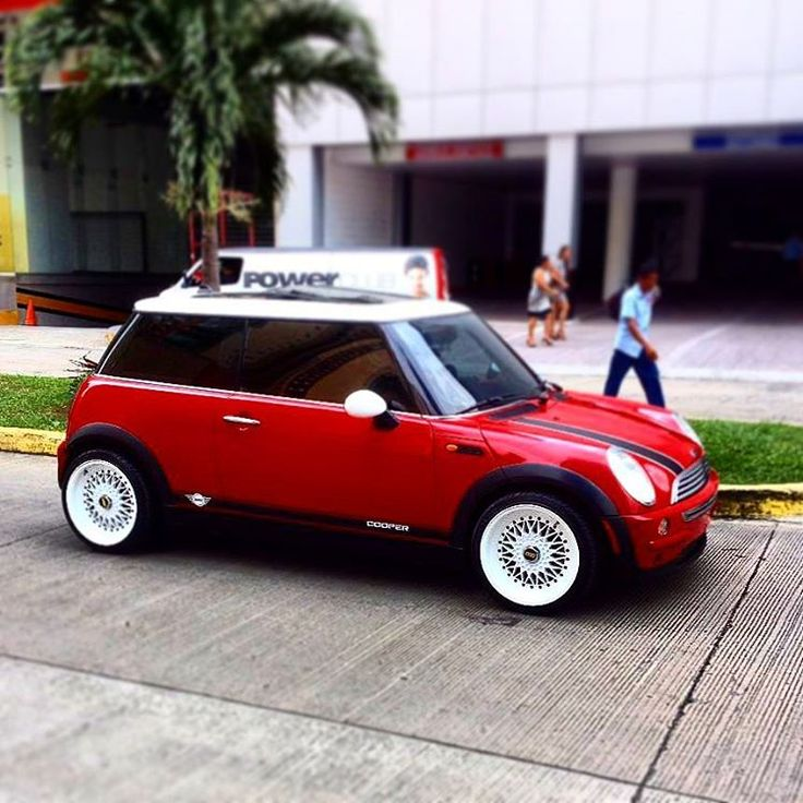 mini cooper red with bbs white wheels mini cooper sport car pinterest mini coopers. Black Bedroom Furniture Sets. Home Design Ideas