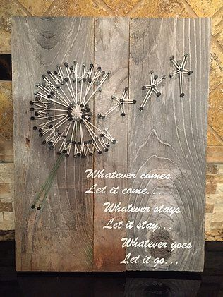 string art dandelion - Google Search...