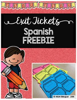 FREE Exit Tickets IN SPANISH! Enjoy!Boletos de salida~~If you enjoy this FREEBIE, please leave a positive note below~~Need more exit tickets?Check these out HERENeed an Interactive Grammar Notebook in {SPANISH}?Check it out HERENeed Choice Boards for Guided Reading Centers in Spanish?Check these out HERE ENJOY!!!