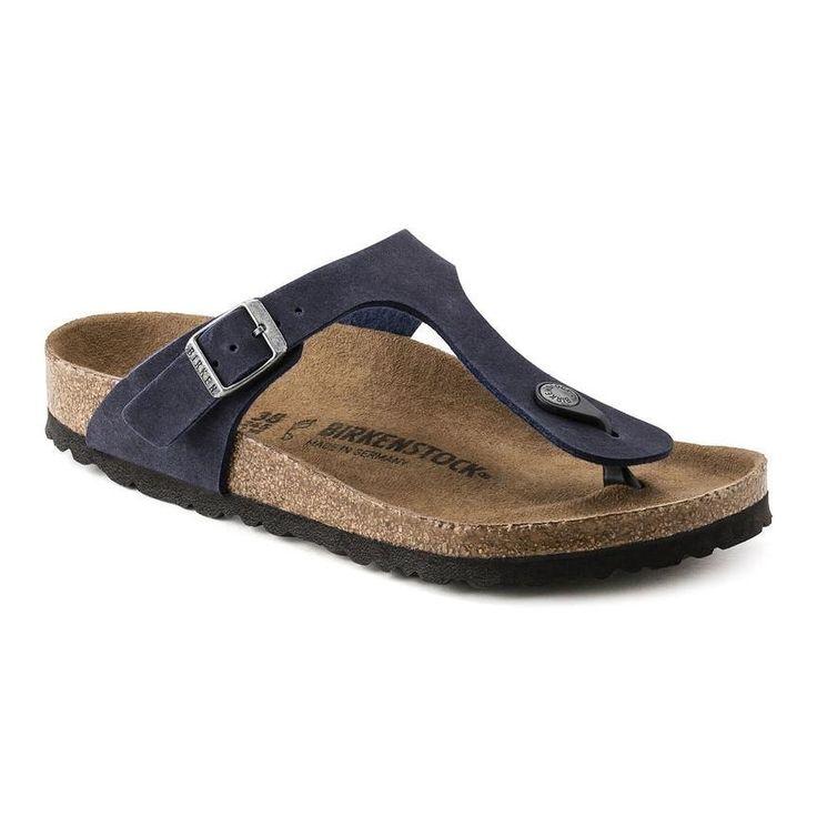 Birkenstock Vegan Gizeh Sandals in Navy