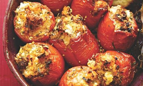 Yotam Ottolenghi's tomatoes stuffed with feta, oregano and za'atar: perfect to take on a picnic. Food styling: Nico Ghirlando. Photograph: Colin Campbell for the Guardian