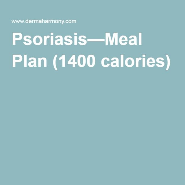 Psoriasis—Meal Plan (1400 calories)