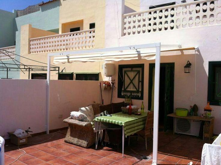 Toldo modelo pergola sevillana ideal para cubrir grandes - Toldos para terrazas ...