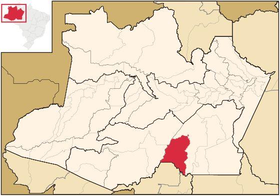 Localização de Humaitá | Humaitá é um município brasileiro localizado no interior do estado do Amazonas. Pertencente à mesorregião do Sul Amazonense e microrregião do Madeira.