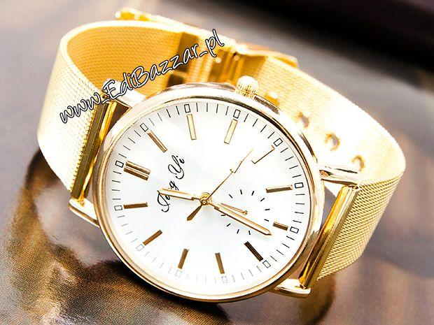 Złoty Zegarek HIT Blogerek Damski Gold ZK103 EdiBazzar