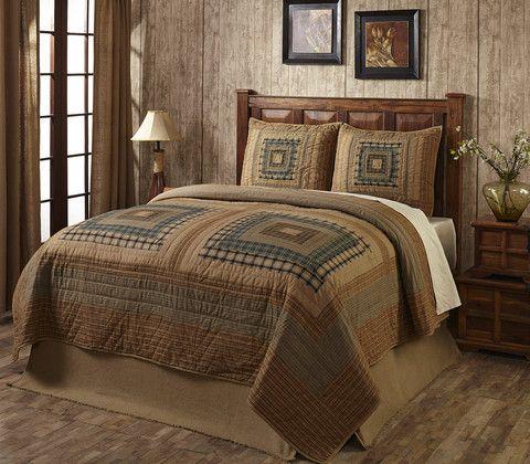 Earthtone Log Cabin Quilt Set For The Momma Pinterest