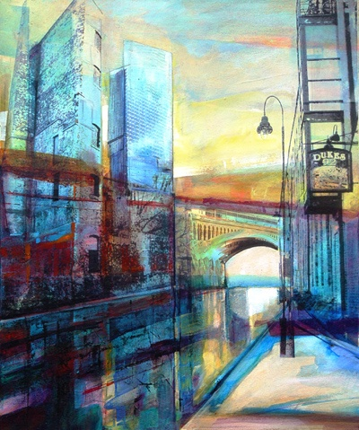 Kate Boyce is a Manchester artist with a great eye for colour...she captures Castlefield Beautifully in this art work