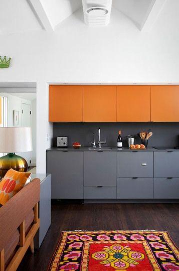 Cozinha Cinza + Madeira