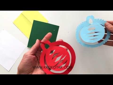 krokotak | Paper christmas ornaments