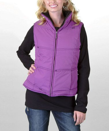 Take a look at this Purple Zip-Up Vest - Women by Adiktd on #zulily today!