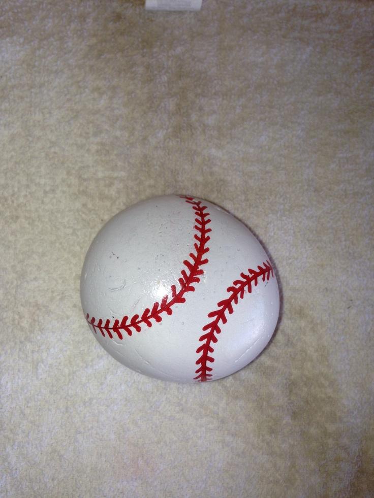 Baseball painted stone SNS DESIGNS